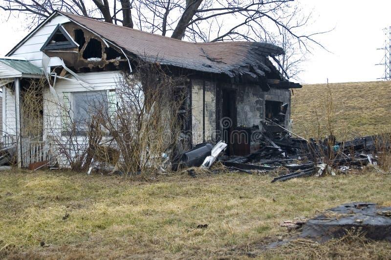 Πυρκαγιά σπιτιών στοκ εικόνες με δικαίωμα ελεύθερης χρήσης