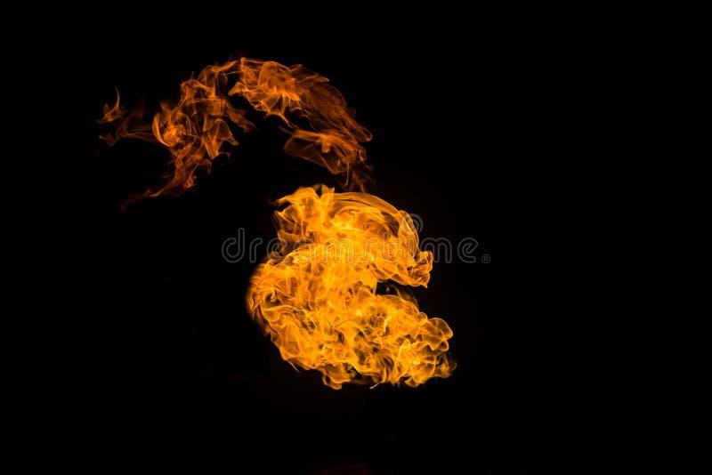 Πυρκαγιά στο μαύρο υπόβαθρο Φλογερά σχέδια Καίγοντας φλόγα Καμμένος πυρκαγιά διανυσματική απεικόνιση