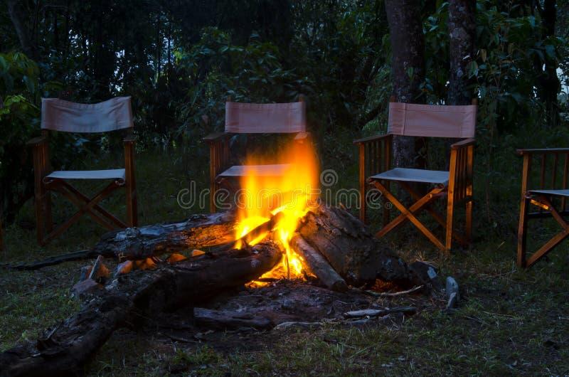 Πυρκαγιά στρατόπεδων στοκ εικόνες