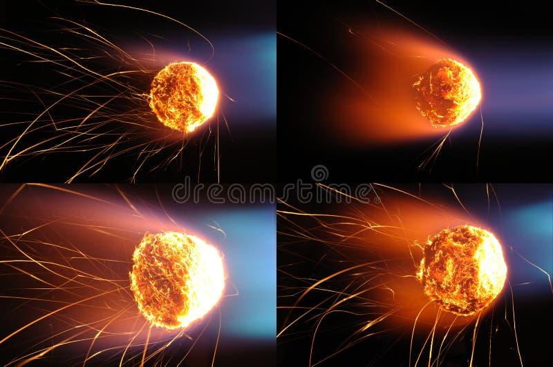 πυρκαγιά σφαιρών στοκ φωτογραφίες με δικαίωμα ελεύθερης χρήσης