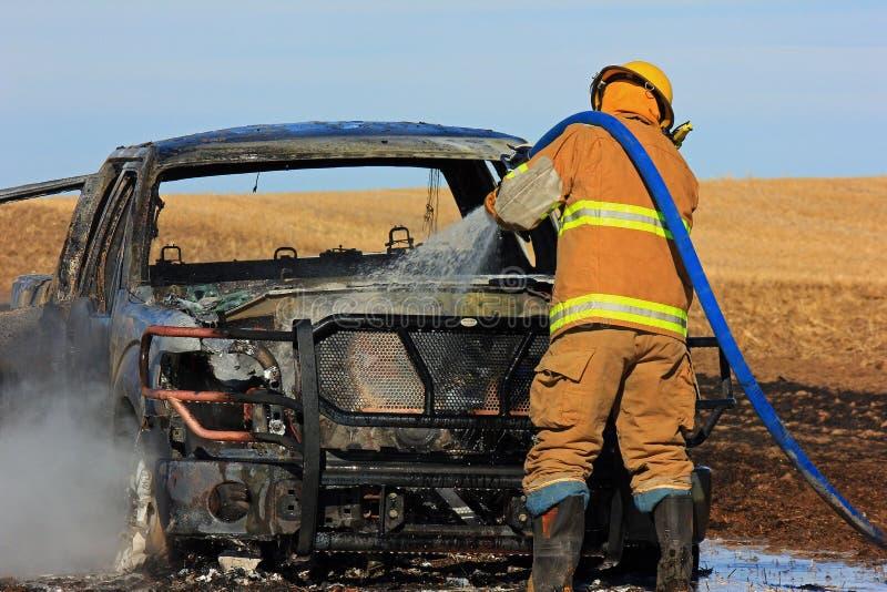 Πυρκαγιά φορτηγών στοκ εικόνες