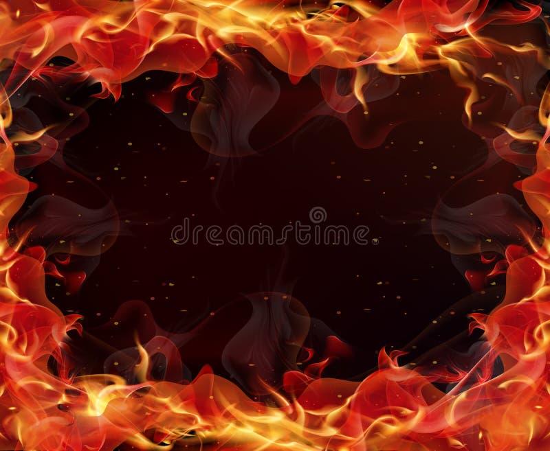 Πυρκαγιά φλογών ορίου διανυσματική απεικόνιση