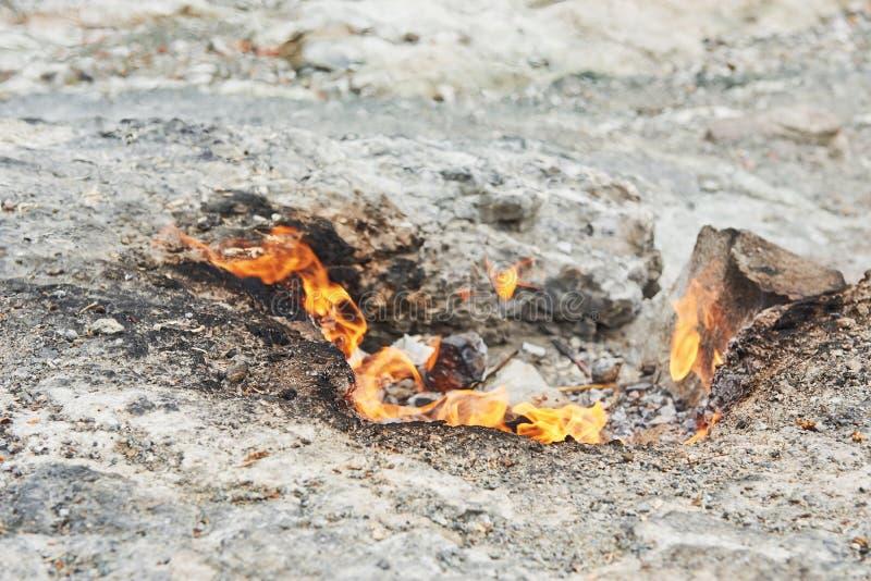 Πυρκαγιά χιμαιρών Στο λόφο κοντά σε Chirali Kemer στοκ εικόνες με δικαίωμα ελεύθερης χρήσης