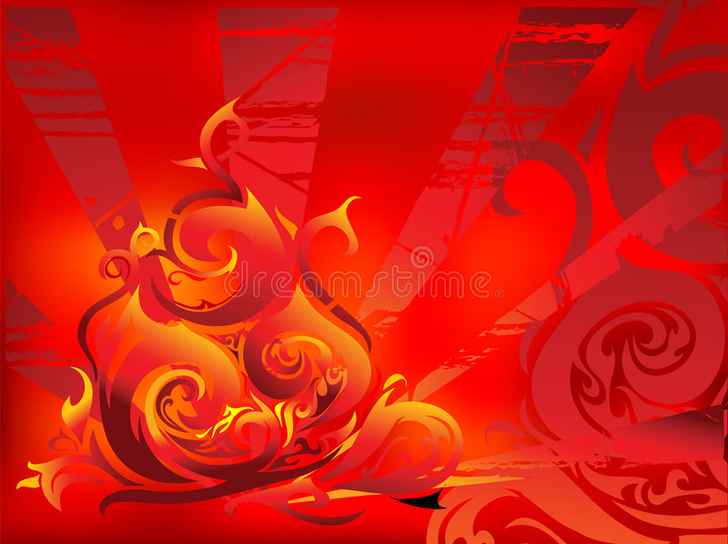 πυρκαγιά abstracttion ελεύθερη απεικόνιση δικαιώματος