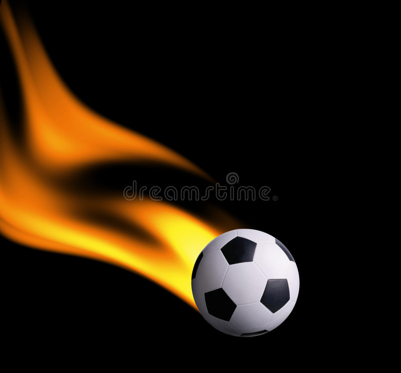 πυρκαγιά footbal απεικόνιση αποθεμάτων