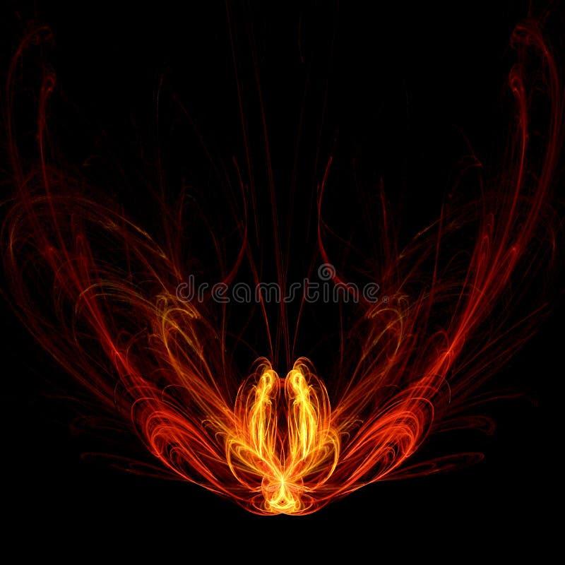πυρκαγιά peacock απεικόνιση αποθεμάτων