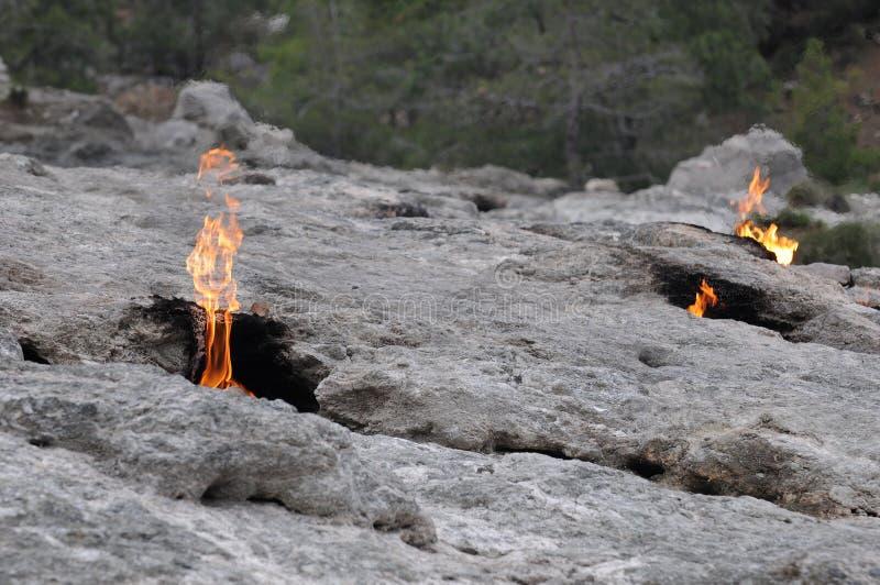 Πυρκαγιές στη χίμαιρα υποστηριγμάτων στοκ εικόνα με δικαίωμα ελεύθερης χρήσης