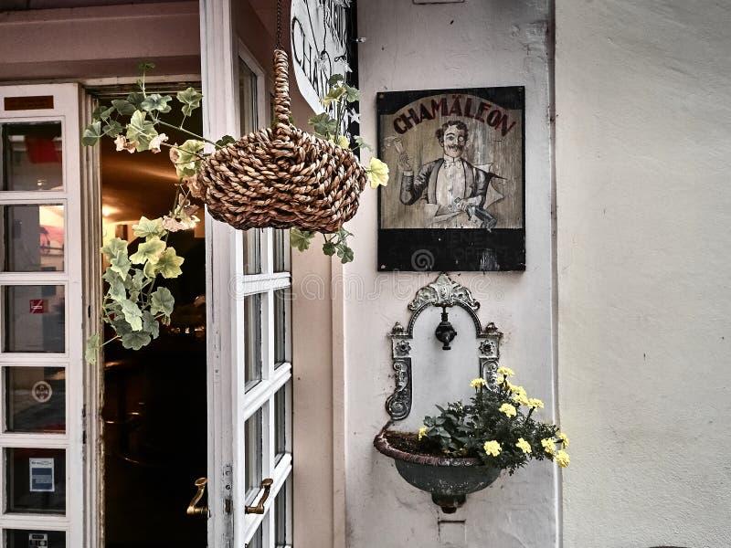 Πυροβοληθείς ενός καταστήματος cafè στη Βιέννη στοκ εικόνες