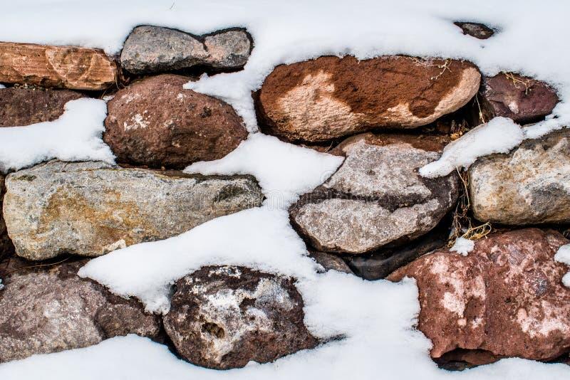 Πυροβοληθείς ενός χιονώδους σχηματισμού βράχου στοκ φωτογραφία