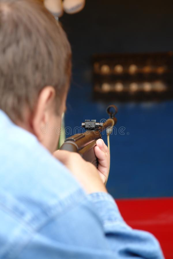 Πυροβολισμός-σειρά στοκ φωτογραφία