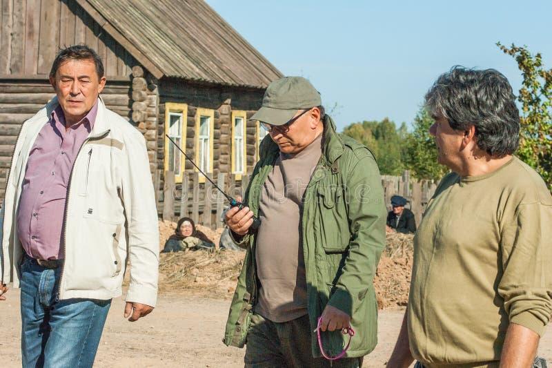 Πυροβολισμός των συνόρων ` ταινιών ` Ilyinsky στην περιοχή Kaluga της Ρωσίας στοκ εικόνες