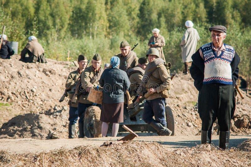 Πυροβολισμός των συνόρων ` ταινιών ` Ilyinsky στην περιοχή Kaluga της Ρωσίας στοκ εικόνα