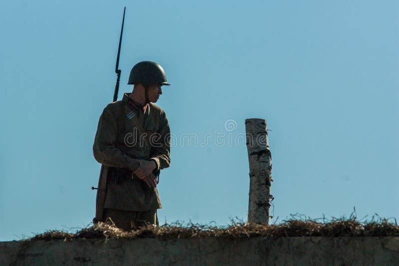 Πυροβολισμός των συνόρων ` ταινιών ` Ilyinsky στην περιοχή Kaluga της Ρωσίας στοκ εικόνα με δικαίωμα ελεύθερης χρήσης