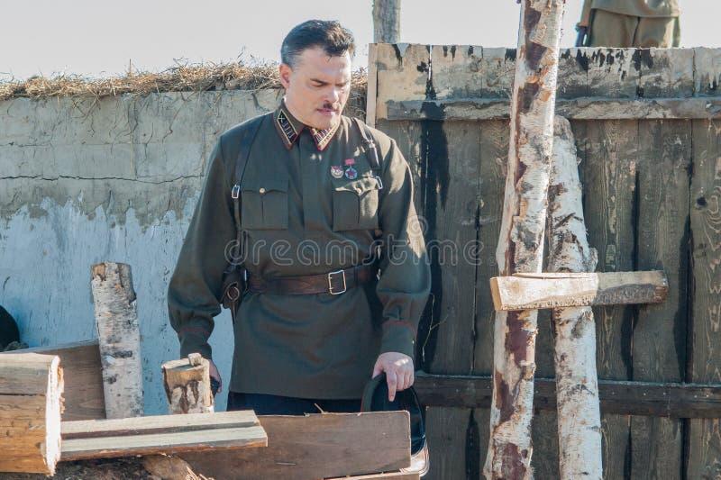 Πυροβολισμός των συνόρων ` ταινιών ` Ilyinsky στην περιοχή Kaluga της Ρωσίας στοκ φωτογραφίες με δικαίωμα ελεύθερης χρήσης