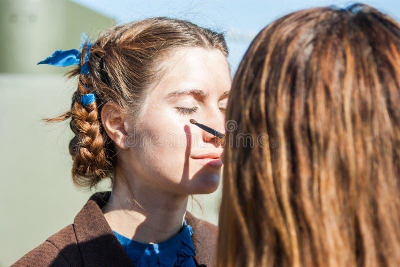 Πυροβολισμός των συνόρων ` ταινιών ` Ilyinsky στην περιοχή Kaluga της Ρωσίας στοκ εικόνες με δικαίωμα ελεύθερης χρήσης