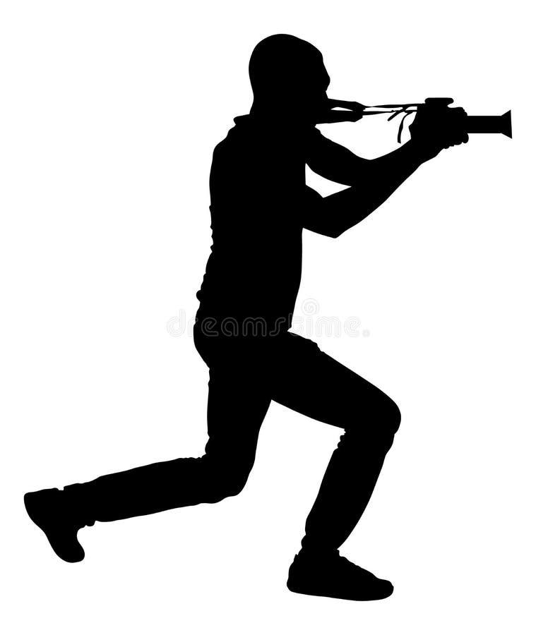 Πυροβολισμός φωτογράφων παπαράτσι στο γεγονός, σκιαγραφία ελεύθερη απεικόνιση δικαιώματος