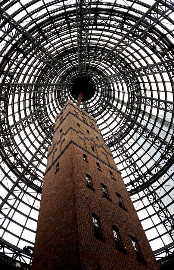 Πυροβοληθείς πύργος κοτετσιού στη Μελβούρνη στοκ εικόνα