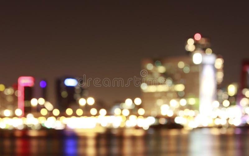 Πυροβοληθείσα νύχτα πόλη scape Ρότερνταμ στοκ φωτογραφία