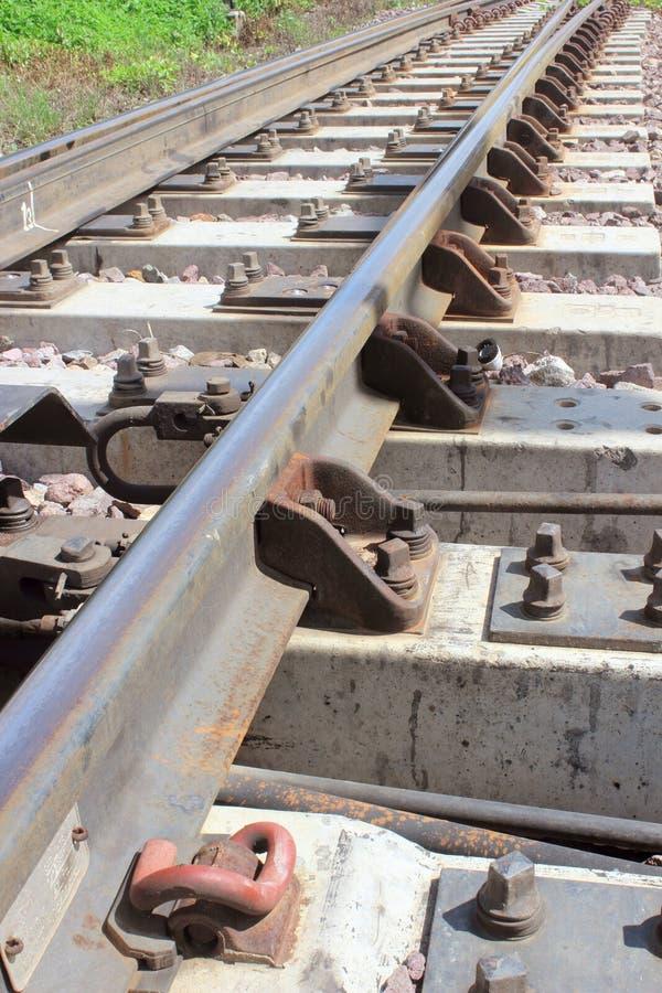 Πυροβολισμός λεπτομέρειας μιας διαδρομής σιδηροδρόμου στοκ εικόνες με δικαίωμα ελεύθερης χρήσης