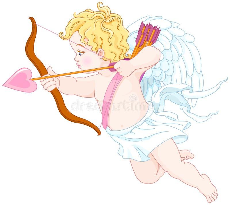 Πυροβολισμός Cupid διανυσματική απεικόνιση