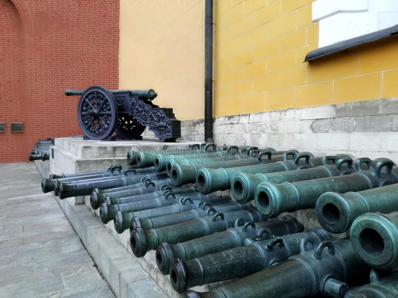 Πυροβόλα όπλα & x28 οπλοστασίων του Κρεμλίνου cannon& x29  στη Μόσχα, Ρωσία στοκ φωτογραφία με δικαίωμα ελεύθερης χρήσης