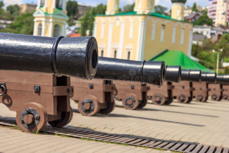 Πυροβόλα όπλα σε Voronezh στοκ εικόνα