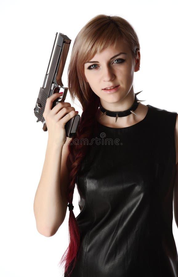 Πυροβόλο όπλο εκμετάλλευσης κοριτσιών στοκ φωτογραφία με δικαίωμα ελεύθερης χρήσης