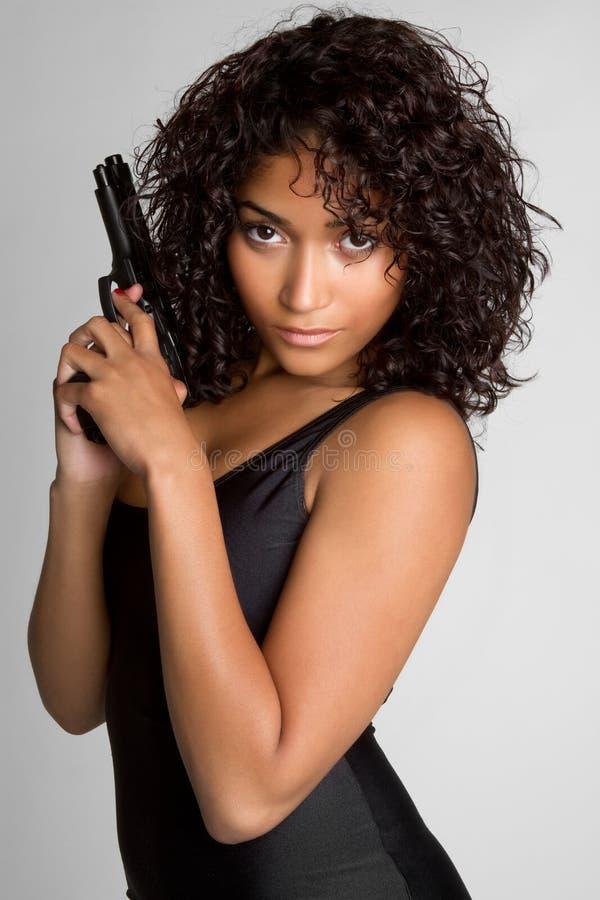 πυροβόλο όπλο κοριτσιών π στοκ εικόνες με δικαίωμα ελεύθερης χρήσης