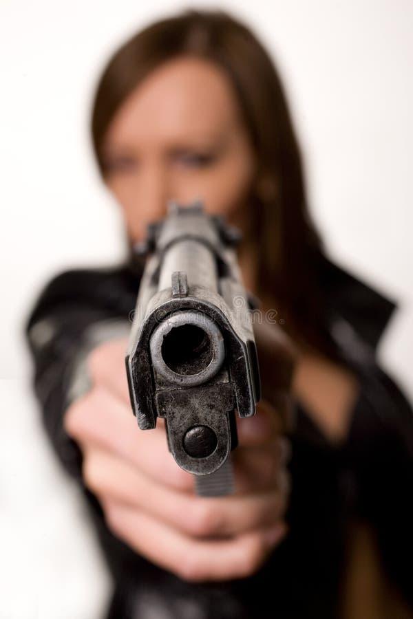 πυροβόλο όπλο ομορφιάς στοκ εικόνα