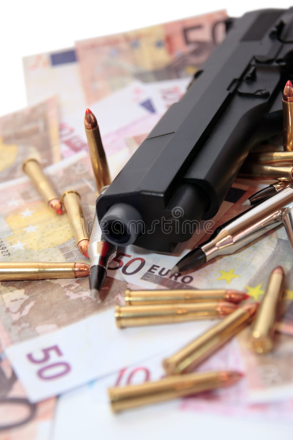 πυροβόλο όπλο 21 εγκλήματ&omi στοκ εικόνα με δικαίωμα ελεύθερης χρήσης