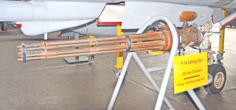 Πυροβόλο όπλο 20mm Gatling εναέριο πυροβόλο στοκ εικόνα με δικαίωμα ελεύθερης χρήσης