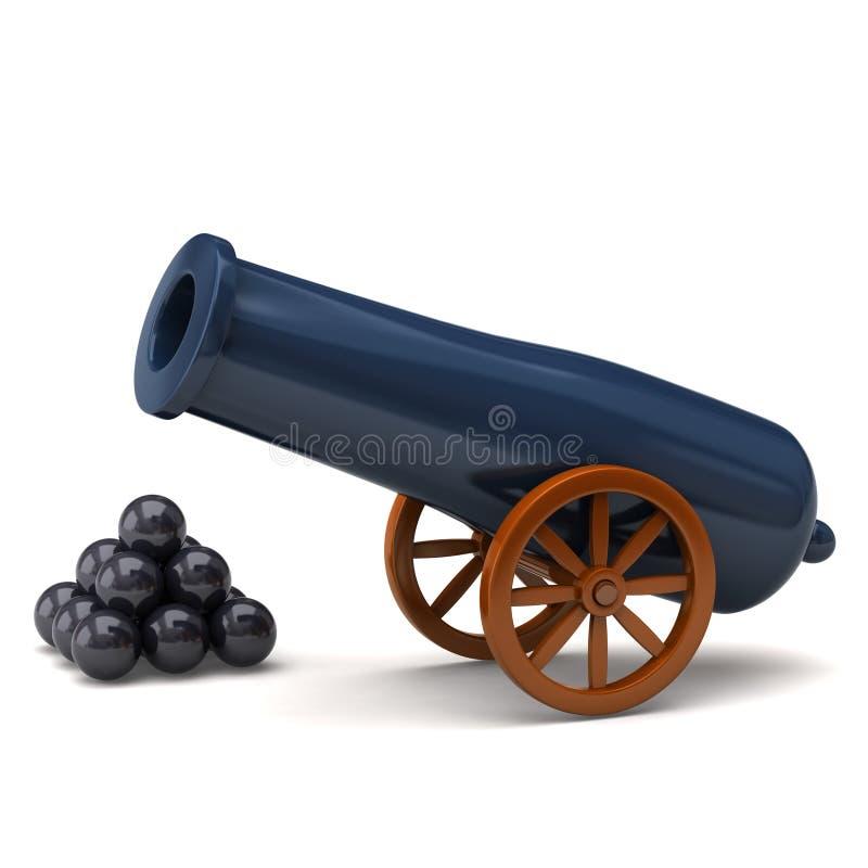 πυροβόλο διανυσματική απεικόνιση