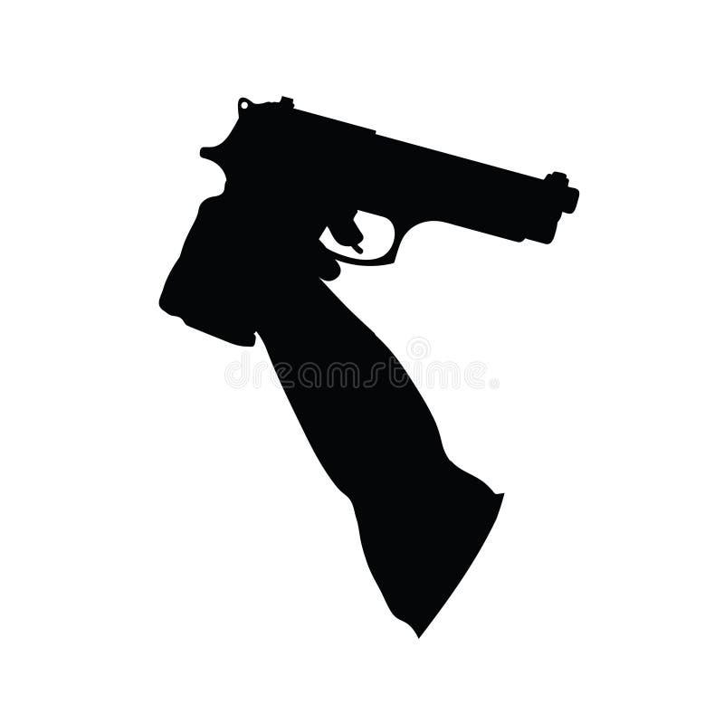 Πυροβόλα όπλα στη διανυσματική απεικόνιση χεριών διανυσματική απεικόνιση