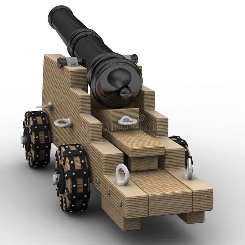 Πυροβόλο όπλο πυροβολικού ελεύθερη απεικόνιση δικαιώματος