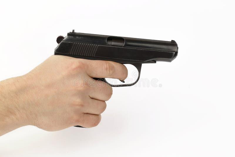 Πυροβόλο όπλο στο χέρι στοκ εικόνες