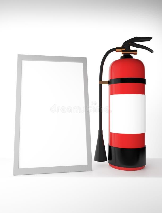 Πυροσβεστήρας με το κενό πλαίσιο διανυσματική απεικόνιση