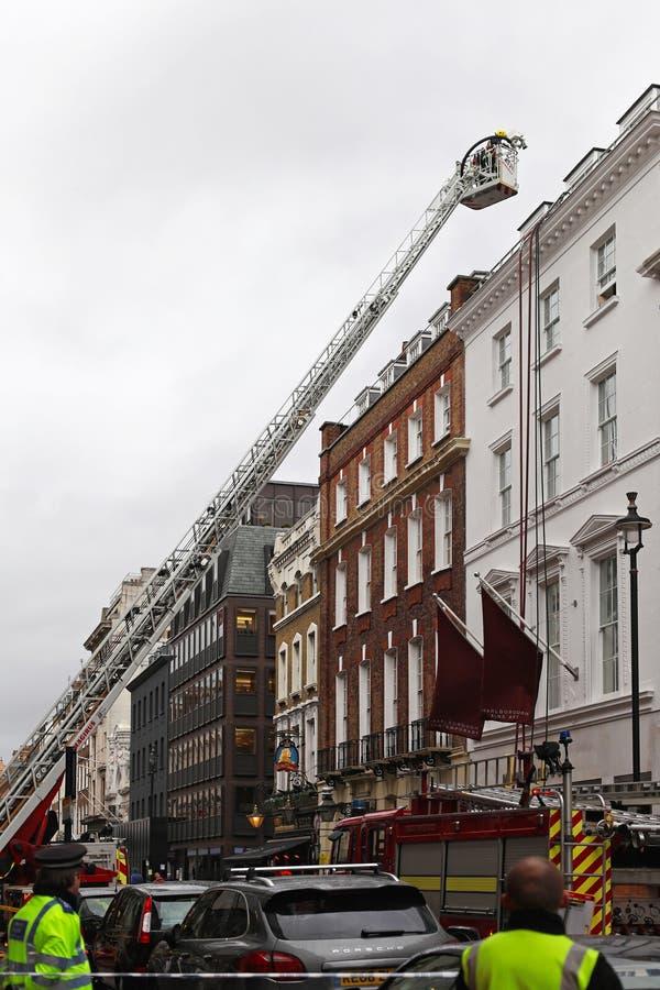 Πυροσβεστική του Λονδίνου στοκ εικόνα με δικαίωμα ελεύθερης χρήσης