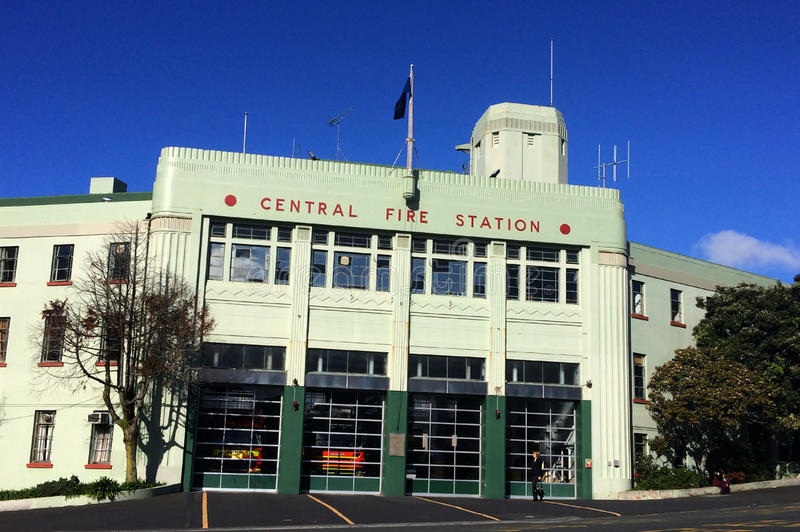 Πυροσβεστικός σταθμός πόλεων του Ώκλαντ - Νέα Ζηλανδία στοκ φωτογραφίες