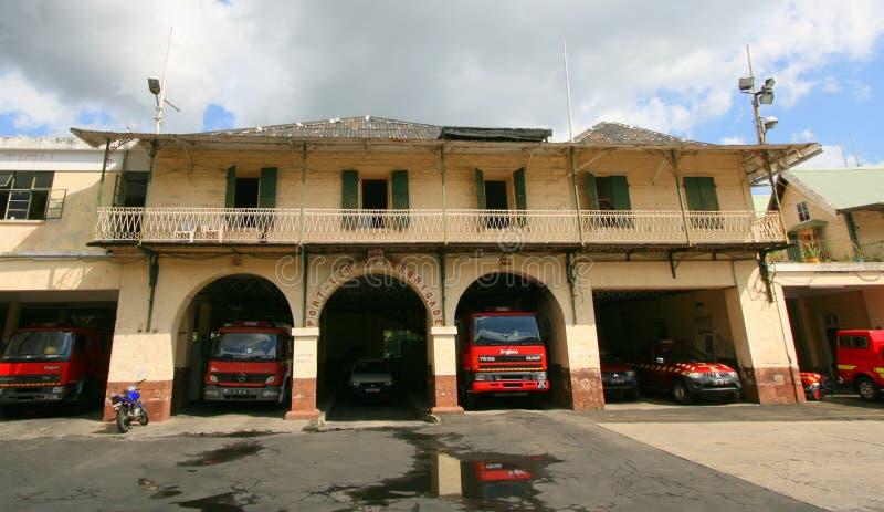 Πυροσβεστικός σταθμός του Πορ Λουί στοκ εικόνα