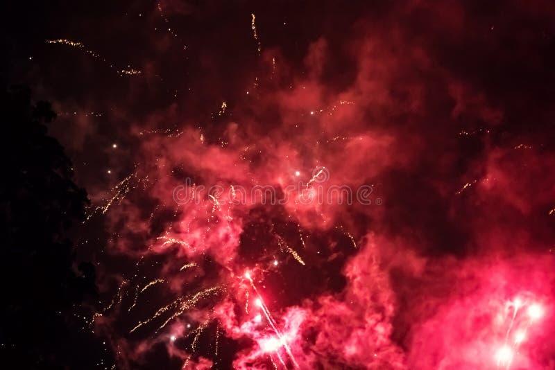 Πυροτέχνημα σε Tivoli, Κοπεγχάγη στοκ εικόνες με δικαίωμα ελεύθερης χρήσης