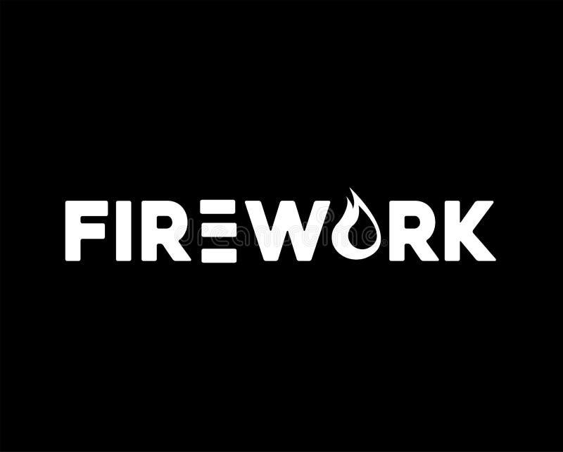 Πυροτέχνημα logo Company για την επιχείρησή σας διανυσματική απεικόνιση