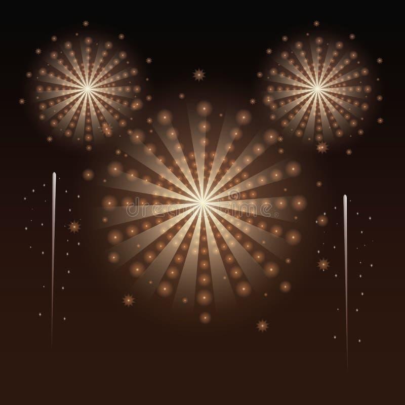 Πυροτεχνήματα και εορτασμός απεικόνιση αποθεμάτων