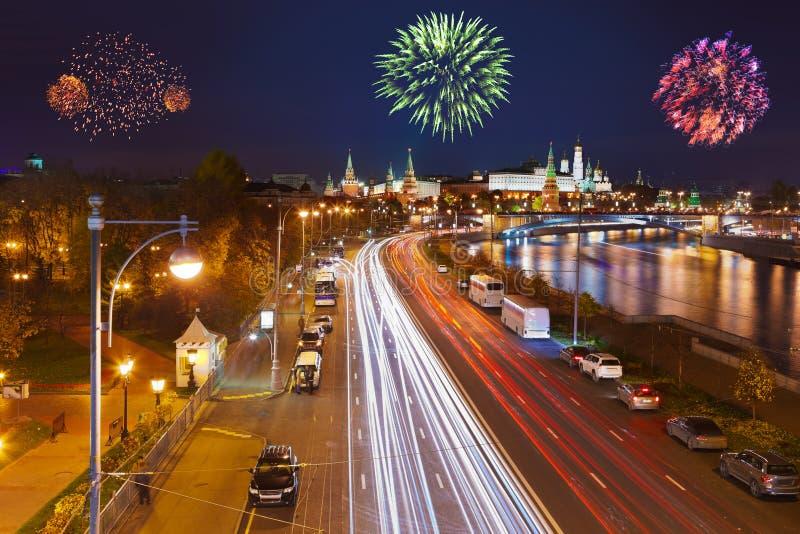 πυροτεχνήματα Κρεμλίνο Μό&s στοκ φωτογραφία