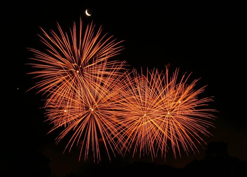 πυροτεχνήματα παρουσία&sigma στοκ εικόνες