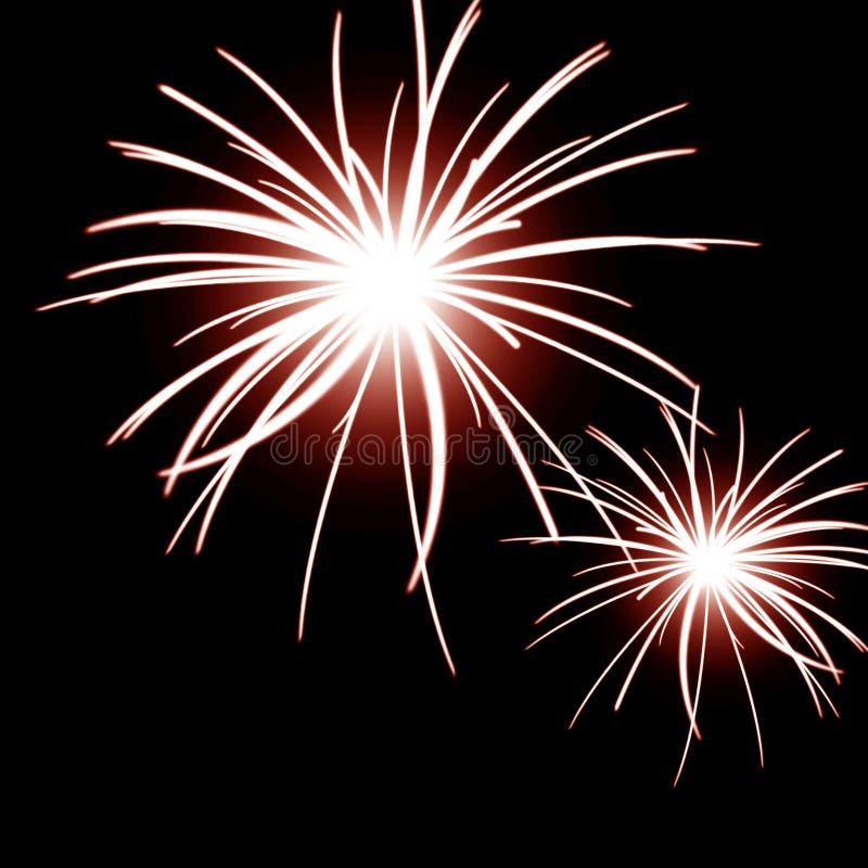 Πυροτεχνήματα στον ουρανό ελεύθερη απεικόνιση δικαιώματος