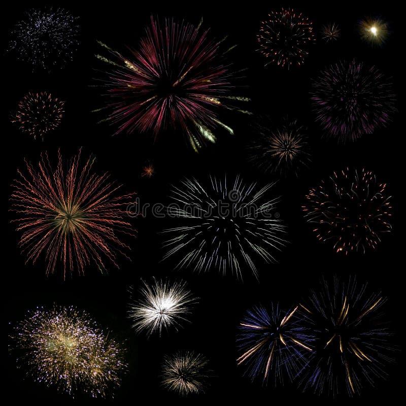 Download πυροτεχνήματα συλλογή&sigma Στοκ Εικόνα - εικόνα από χρώμα, απομονωμένος: 17057893