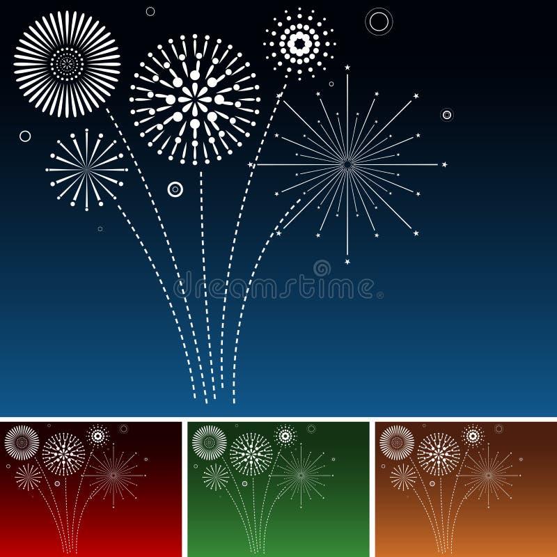 Πυροτεχνήματα ελεύθερη απεικόνιση δικαιώματος