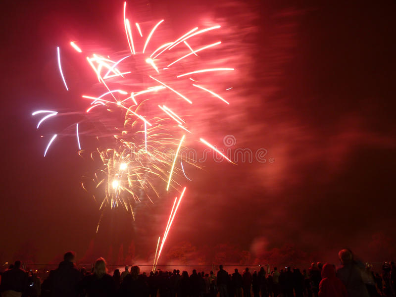 πυροτεχνήματα Barkingside Στοκ Φωτογραφίες