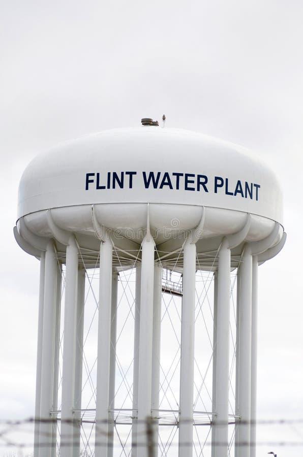 Πυρόλιθος, Μίτσιγκαν: Πύργος εργοστασίου νερού πυρόλιθου στοκ εικόνες