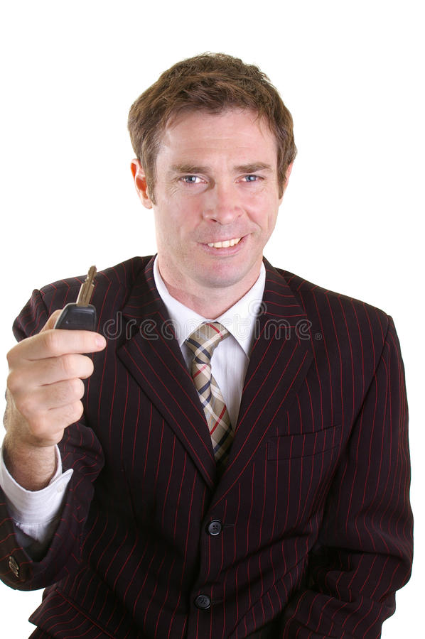 πωλητής αυτοκινήτων στοκ φωτογραφία με δικαίωμα ελεύθερης χρήσης